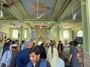 تصاویر جدید از محل انفجار در مسجد شیعیان قندهار