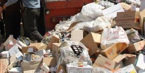 جمعآوری ۵۰ تن مواد غذایی آلوده در کرمانشاه