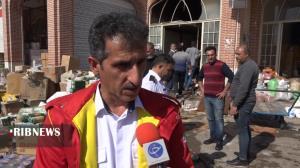 اطفای حریق در بازار خشکبار اردبیل با کمک کسبه