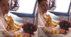 شوآف عجیب عروس چینی در استفاده از طلا!