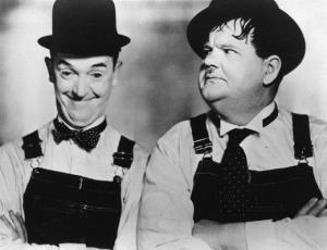 چهره ها/ آخرین عکس لورل و هاردی در سال ١٩٥٦