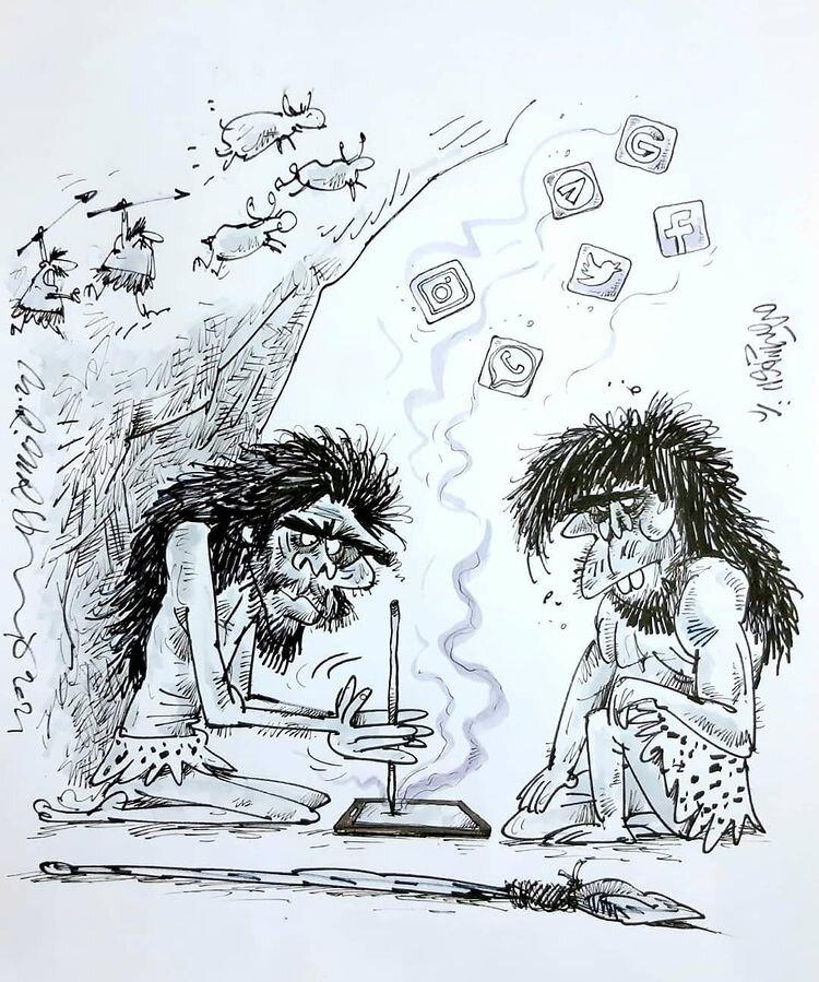 کاریکاتور/ داریم برمیگردیم به عصر حجر!