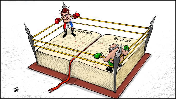کاریکاتور/ تنش بین الجزایر و فرانسه بر سر تاریخ