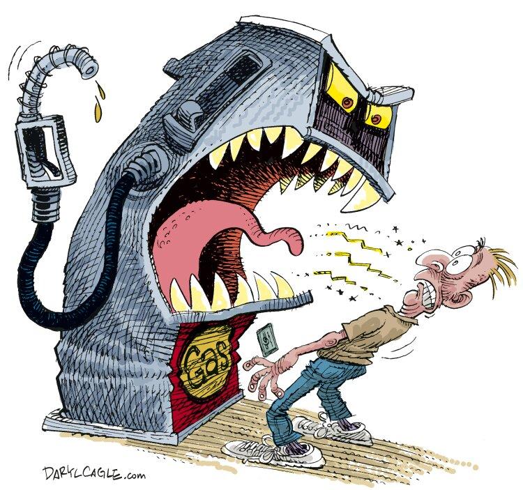 کاریکاتور/ کمبود بنزین چه کرده با مردم!