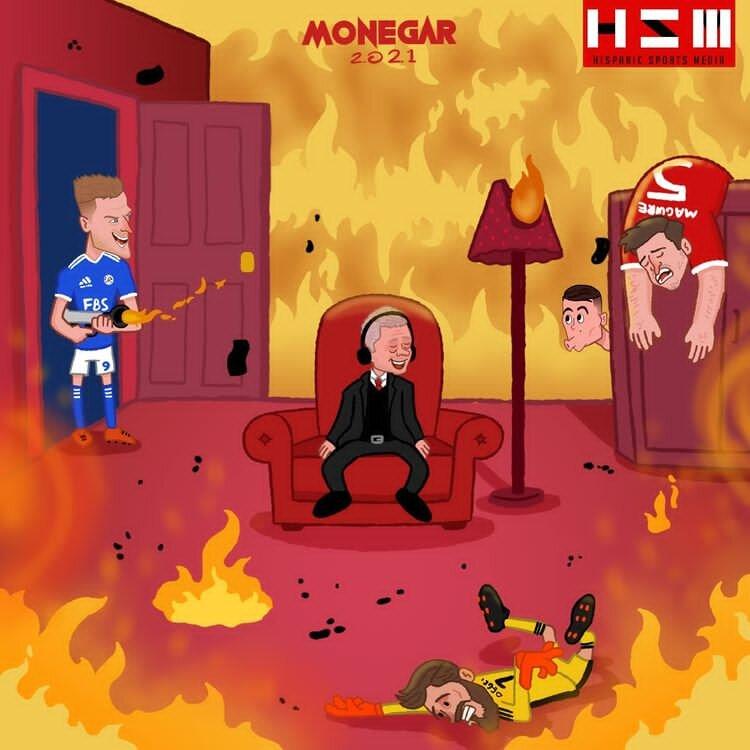 کاریکاتور/ روباهها خانه منچستر را به آتش کشیدند!