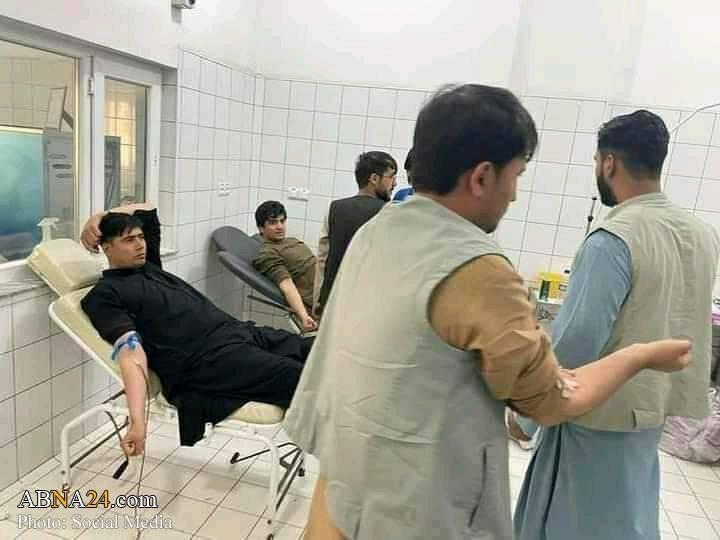 عکس/ اهدای خون اهل سنت افغانستان برای مجروحان شیعه حمله تروریستی قندهار