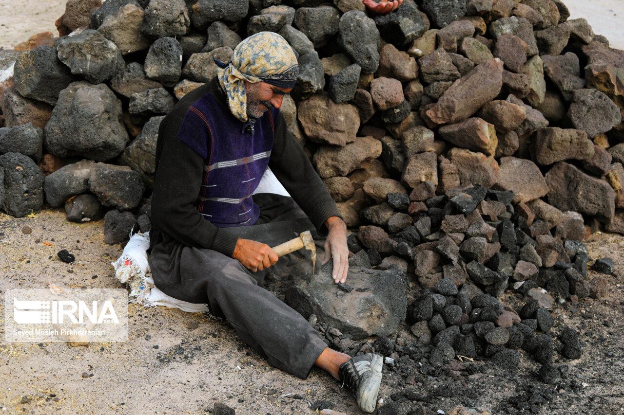 تولید سنگ پا در روستای «قزلجهکند»
