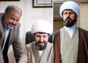 هومن حاجی عبداللهی در نقش روحانی سریال «نون.خ»