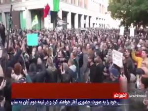 درگیری معترضان به سیاستهای کرونایی با پلیس ایتالیا