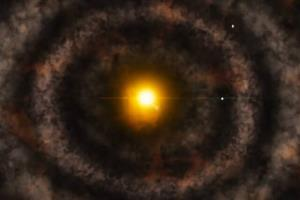 وجود شکاف در دل منظومه شمسی اولیه