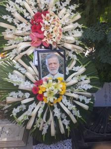 خاکسپاری  رحیم رحیمی پور در بهشت زهرا