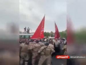 تلاش نیروهای نظامی عراقی برای جلوگیری از ادامه تجمع در بغداد