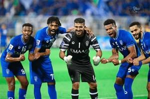 جشن پیروزی الهلالیها بعد از سوت پایان