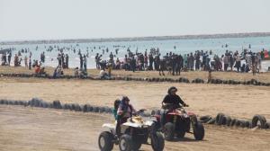 جولان ارابههای مرگ در ساحل دریای خزر