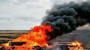 دستگیری عاملان آتش زدن لاستیکهای فرسوده در سیرجان