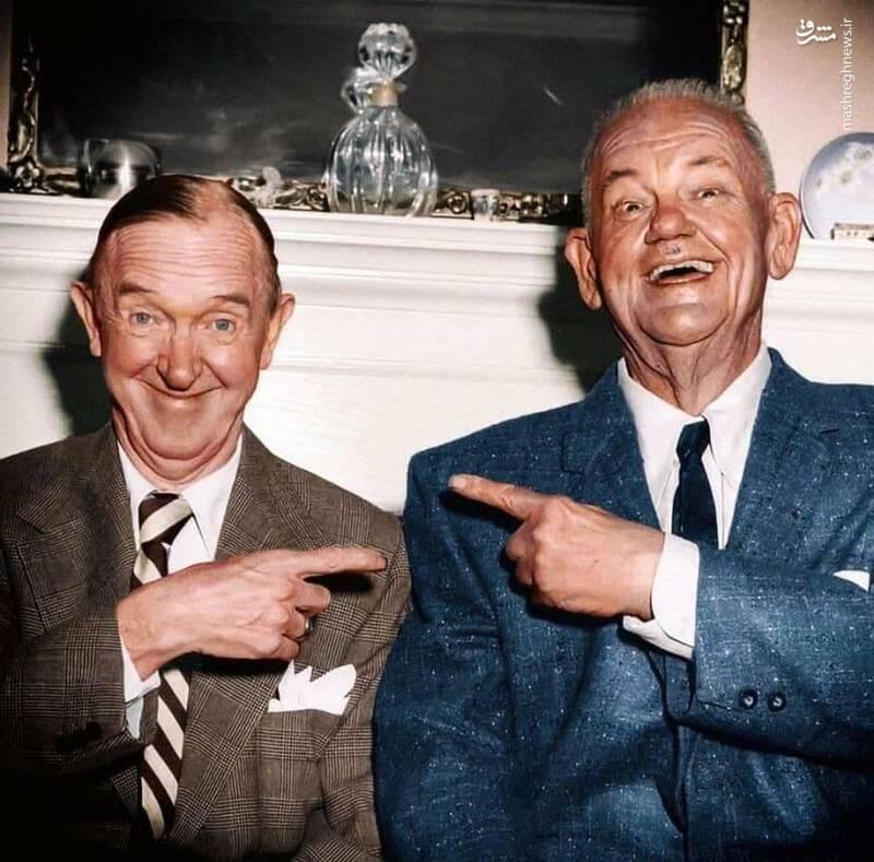 آخرین عکس لورل و هاردی یکسال قبل از مرگشان!