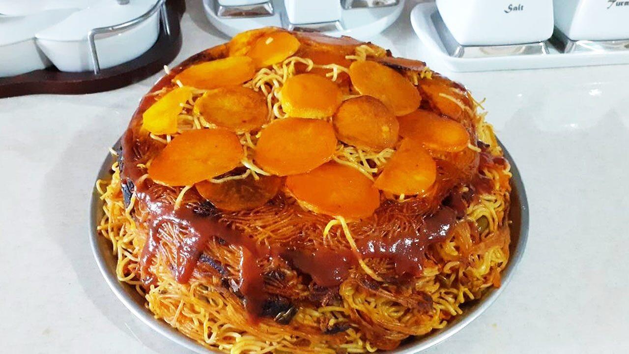 طرز تهیه کیک ماکارونی خوشمزه