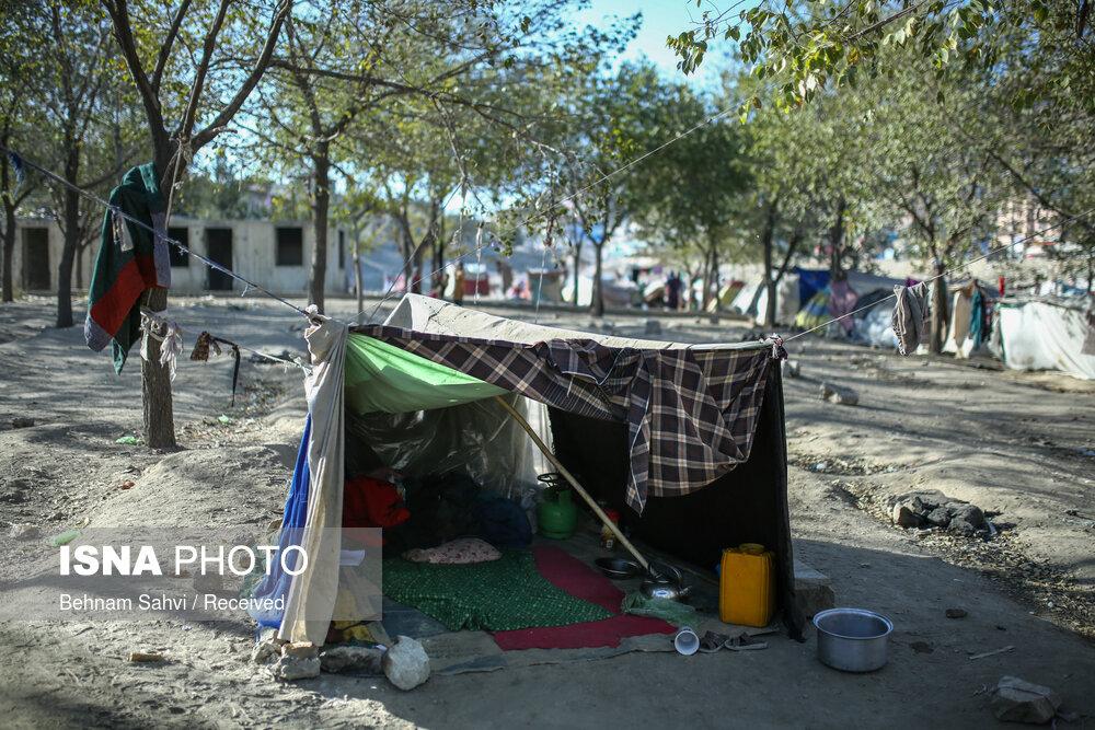 عکس/ سرپناه مردم افغان در پارک سرای شمالیِ کابل