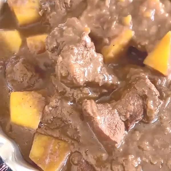 طرز تهیه قلیه لری خوشمزه و ساده با گوشت و سیب زمینی