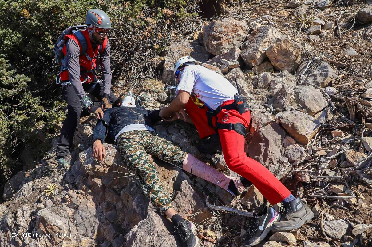 عکس/ مانور عملیات جستجو، امداد و نجات در گلستان