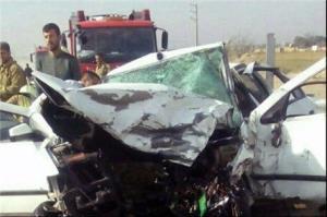 واژگونی خودروی سواری در محور دلفارد به جیرفت جان ۲ نفر را گرفت