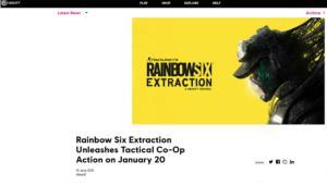 احتمال فاش شدن تاریخ عرضه بازی Rainbow Six Extraction