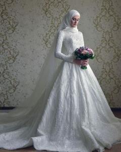 مدل های شیک لباس عروس پوشیده