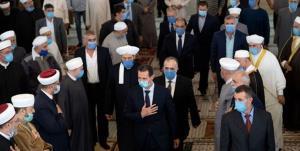حضور بشار اسد در مراسم جشن ولادت نبی اکرم(ص) در دمشق