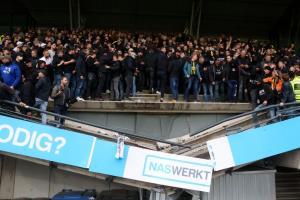 شکسته شدن سکوهای استادیوم، هنگام خوشحالی هواداران تیم ویتسه آرنهم