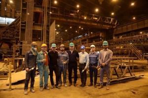 بازدید شاگردان ویسی از شرکت فولاد خوزستان