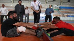 برگزاری مسابقات چوبکشی به مناسبت هفته تربیت بدنی در خراسان جنوبی
