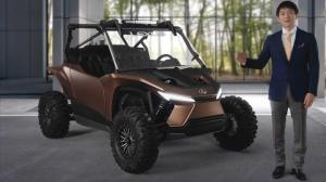 نمایش خودروی تفریحی جالب لکسس با پیشرانهٔ درونسوز هیدروژنی