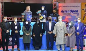 بانوان تکواندوکار ایرانی در رقابتهای آزاد آسیا اول شدند