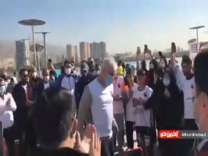 طناب زنی وزیر ورزش و جوانان