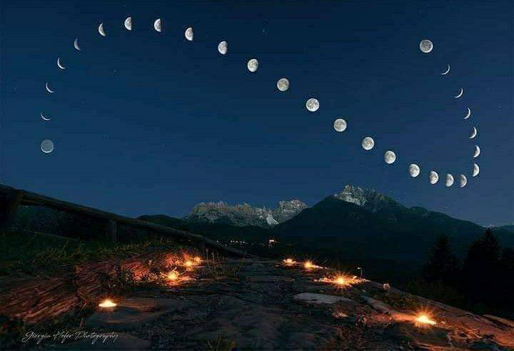 گام های ماه در آسمان