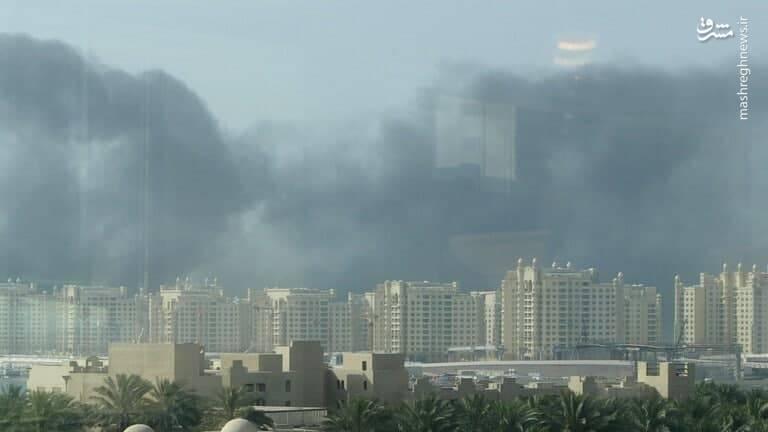 عکس/ آتشسوزی در منطقه صنعتی دبی