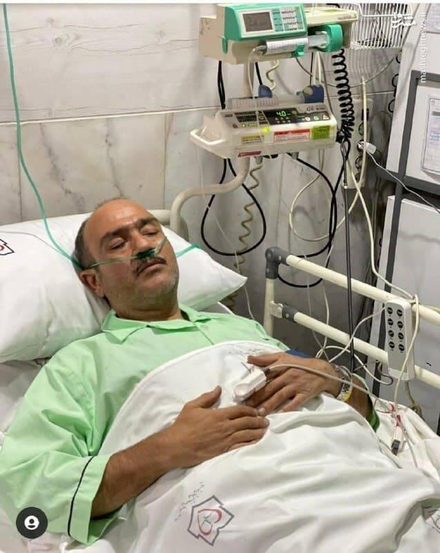 اولین تصویر منتشرشده از مهران غفوریان در بیمارستان