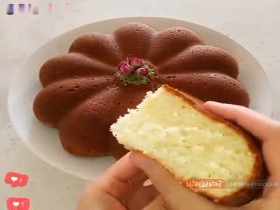 ترفند تهیه کیک پفکی با بافت نرم و لطیف