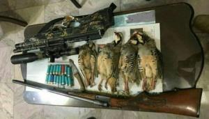 دستگیری متخلفان شکار و صید در بستک