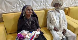 4 گوشه دنیا/ زن ۷۰ ساله هندی برای اولین بار مادر شد