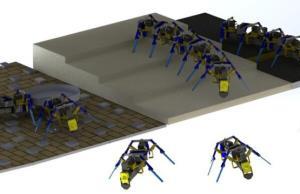 تولید رباتهای مورچهای متصل شونده برای عبور از موانع