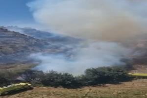 آتش سوزی در ابها عربستان