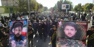 عکس/ تشییع پیکر مطهر شهید مکرمی در گلزار شهدای خمین