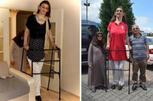 با بلند قدترین زن جهان آشنا شوید
