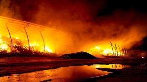وقوع آتشسوزی در یک گاوداری در اسفراین