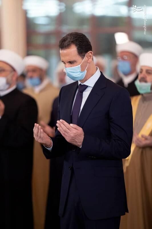 عکس/ حضور بشار اسد در مراسم میلاد رسول اکرم (ص)