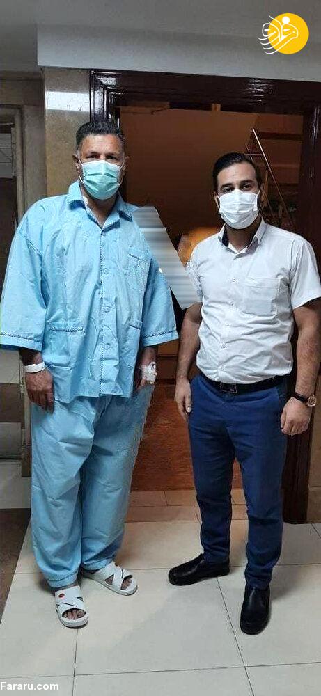 اخراج از بیمارستان به دلیل عکس گرفتن با علی دایی!