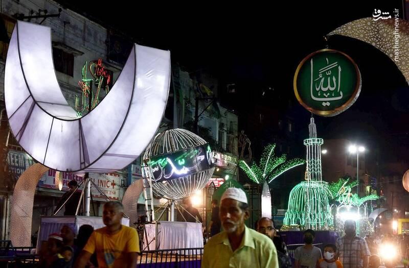 عکس/ چراغانی خیابانهای هند به مناسبت هفته وحدت