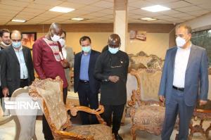 بازدید سفیر غنا از صنعت مبلمان منبت ملایر