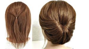 روشی آسان برای بستن موهای کوتاه در 2 دقیقه